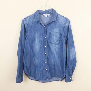 Old Navy Size M Classic Denim Shirt Blue Chambray